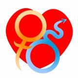 Símbolos astrológicos de Marte e de Vênus do amor Ilustração do vetor ilustração do vetor