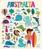 Símbolos australianos Fotografia de Stock Royalty Free