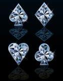 Símbolos brilhantes do cartão do pôquer Imagens de Stock Royalty Free