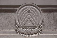 Símbolos budistas fotografia de stock