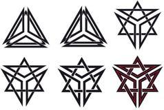 Símbolos celtas Imagens de Stock