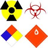 Símbolos científicos da segurança Fotos de Stock Royalty Free