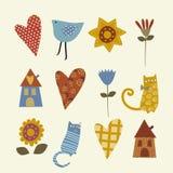 Símbolos coloridos Imagens de Stock Royalty Free