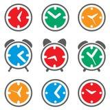 Símbolos coloridos do pulso de disparo ilustração stock
