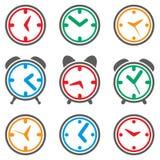 Símbolos coloridos do pulso de disparo ilustração do vetor