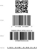 Símbolos comunes de la clave de barras Fotografía de archivo libre de regalías