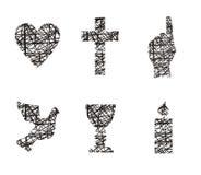 Símbolos cristãos Imagens de Stock