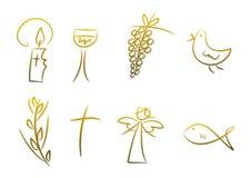 Símbolos cristianos Fotos de archivo libres de regalías