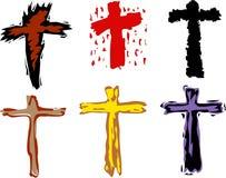 Símbolos cruzados ilustración del vector