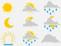 Símbolos da água ilustração stock