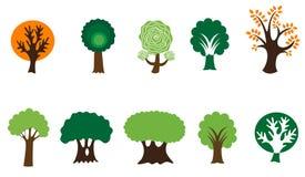 Símbolos da árvore ilustração do vetor
