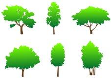 Símbolos da árvore ilustração stock