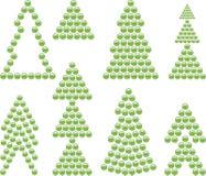 Símbolos da árvore do Xmas Fotografia de Stock Royalty Free
