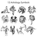 Símbolos da astrologia Imagens de Stock Royalty Free