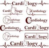 Símbolos da cardiologia Fotografia de Stock