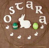 Símbolos da celebração de Ostara fotos de stock