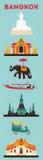 Símbolos da cidade de Banguecoque Imagens de Stock Royalty Free