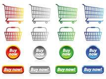 Símbolos da compra Fotos de Stock