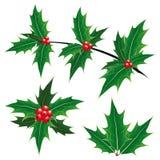 Símbolos da decoração do Natal ilustração royalty free
