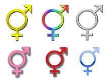 Símbolos da diversidade ilustração do vetor