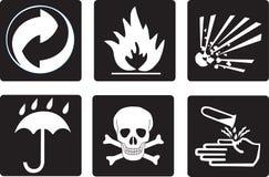 Símbolos da embalagem Fotografia de Stock