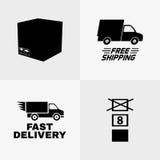 Símbolos da entrega Foto de Stock