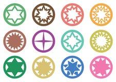 Símbolos da estrela do círculo ilustração do vetor