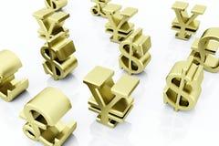 Símbolos da finança Imagens de Stock Royalty Free