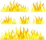 Símbolos da flama ilustração do vetor