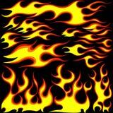 Símbolos da flama ilustração stock