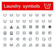 Símbolos da lavanderia Fotos de Stock