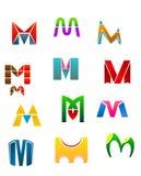 Símbolos da letra M Imagens de Stock