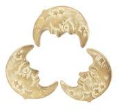 Símbolos da lua Imagens de Stock Royalty Free