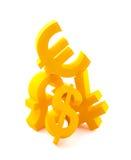 Símbolos da moeda Fotos de Stock