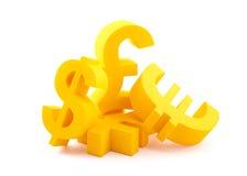 Símbolos da moeda imagens de stock royalty free