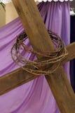 Símbolos da paixão de Jesus imagem de stock