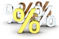 Símbolos da porcentagem Fotos de Stock