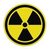 Símbolos da radiação fotos de stock