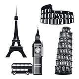 Símbolos das cidades Fotografia de Stock