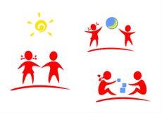 Símbolos das crianças Foto de Stock Royalty Free
