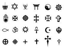 Símbolos das religiões Foto de Stock