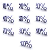 Símbolos de alta resolução super da porcentagem ilustração do vetor