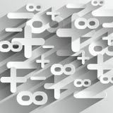 Símbolos de Calcul da matemática ilustração royalty free