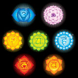 Símbolos de Chakra Imagen de archivo libre de regalías
