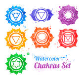 Símbolos de Chakra ilustração royalty free