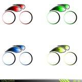 Símbolos de ciclo. Imágenes de archivo libres de regalías