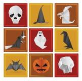 Símbolos de Dia das Bruxas Imagem de Stock