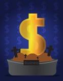 Símbolos de dinero en circulación Fotos de archivo libres de regalías