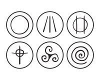 Símbolos de Druidism Foto de archivo libre de regalías