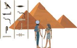Símbolos de Egipto ilustração royalty free